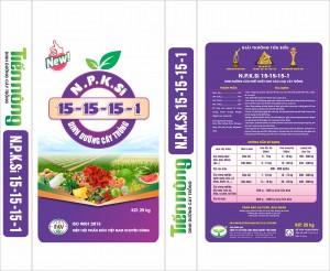 NPK 15-15-15+1SiO2hh Tiến Nông (25kg)